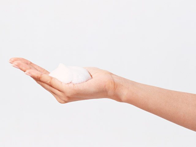 cream in your palm